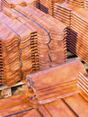 Ceramic roof tiles Stock Photos