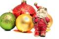Ceramic Santa Claus Christmas balls Royalty Free Stock Photo