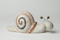 Ceramic snail a ornament made out of pottery Stock Photos
