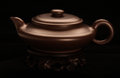 Ceramic tea pot dull brown teapot Stock Image
