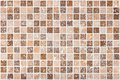 Ceramic tile background brown and beige square tiles Royalty Free Stock Photography