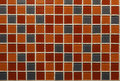 Ceramic tile detail of color pattern and texture of bathroom wall Royalty Free Stock Image