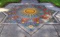 Ceramic Tile Mosiac of Compas Rose Royalty Free Stock Photo
