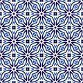 Ceramic tile pattern. Islamic, indian, arabic motifs. Damask sea