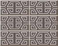 Ceramic tile pattern 426 polygon geometry cross line Royalty Free Stock Photo