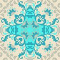 Ceramic tile. Portuguese, moroccan, spanish, indian motives. Abstract paisley and flowers ornament. Pattern for pillowcase
