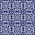Ceramic Tile, Portuguese Tiles Blue and White Moroccan Tiles, Blue and White Kitchen Tiles, Bathroom Tiles Surface Pattern Vector