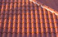 Ceramic tile roof Royalty Free Stock Photo