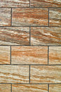 Ceramic tile wall the background of with brown stripes Royalty Free Stock Photos
