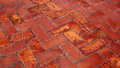 Ceramic tiled floor detail of a Stock Images