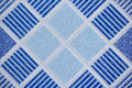 Ceramic tiles close up blue Royalty Free Stock Photo