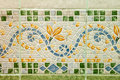 Ceramic tiles colorful wall decoration Stock Images