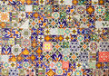 Ceramic tiles patterns Royalty Free Stock Photo