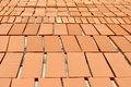 Ceramic tiles pieces of material outdoors Royalty Free Stock Photography