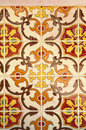 Ceramic tiles wall decoration Royalty Free Stock Images