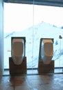 Ceramic urinals Royalty Free Stock Photo