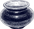 Ceramic vase vector drawing of the old Royalty Free Stock Photography
