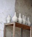 CERAMIC VASES ON THE SHEVES Stock Photos