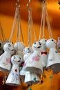 Ceramic wind chimes Royalty Free Stock Photo