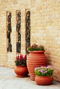 Ceramics flowerpots Royalty Free Stock Photo