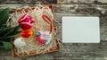 Ceramics heart inscription Love for ever Royalty Free Stock Photo