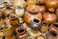 Ceramics a lot of on the ground Royalty Free Stock Images