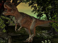 Ceratosaurus nasicornis-3D Dinosaur Royalty Free Stock Photos