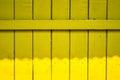 Cerca velha amarela wood background Fotos de Stock Royalty Free