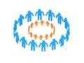 Cerchio arancione del Logotype nel cerchio Immagine Stock Libera da Diritti