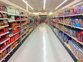 Cereal aisle fred meyer springfield or usa december grocery at with nobody shopping Stock Photography