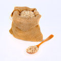 Cereal in the bag on white background Royalty Free Stock Images