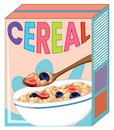 Cereal box isolated on white Royalty Free Stock Photo