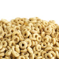 Cereal close up isolated on white Royalty Free Stock Photo