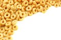 Cereal corner border of oat on a white background Royalty Free Stock Photo