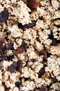 Cereal with Dark Raisins Royalty Free Stock Photography