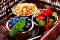 Cereals with berry fruits Stock Images