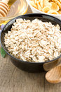 Cereals oat flake and healthy food Stock Photos