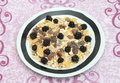 Cereals some with chocolate and blackberries Royalty Free Stock Photography