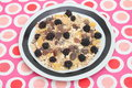 Cereals some with chocolate and blackberries Royalty Free Stock Photo