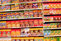 Cereals a view from a wide selection of packaged at the supermarket Royalty Free Stock Image