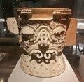 Ceremonial Aztec Vase Royalty Free Stock Photo
