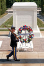 Ceremonial guard at the Tomb of the Unknown Soldier at Arlington National Cemetery Royalty Free Stock Photo