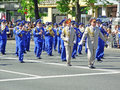 Ceremonial parade ukraine kiev may at kiev main street khreshchatyc dedicated to the th anniversary of victory in great patriotic Royalty Free Stock Photos