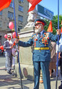 Ceremonial parade ukraine kiev may at kiev main street khreshchatyc dedicated to the th anniversary of victory in great patriotic Royalty Free Stock Photography