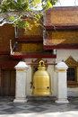 Ceremony bell a large inside the walls of a temple Stock Images