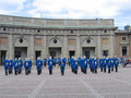 The ceremony of changing the royal guard in stockholm sweden august on august it is king s honor and is Stock Images