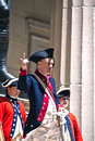 Ceremony for the declaration of independence at federal hall new york usa – july drama on occasion anniversary takes place Stock Images
