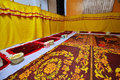Ceremony room standard for buddhism thailand Stock Image
