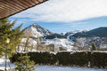 Cerler huesca spain snowfall view in the ski resort in the pyrenees of aragon view of the snowy mountains and beautifull landscape Royalty Free Stock Photo