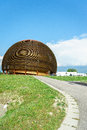 Cern geneva modern building glob in switzerland photo taken on june Royalty Free Stock Photo